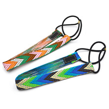 Ethnic Boho Embroidery Headbands For Girls Women Vintage Hair Accessories Braid Elastic Band Bohemian beach Rubber Tie