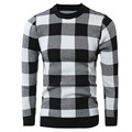 Christmas Sweater Men Oversize O-Neck Hip Hop Thick Warm Winter New Design Sweater Plaid Pullovers Brand Clothing 7720