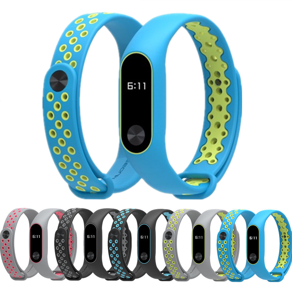 Mi-Band Bracelet Mijobs 2-Strap Xiaomi Silicone Replacement Xfor Colorful