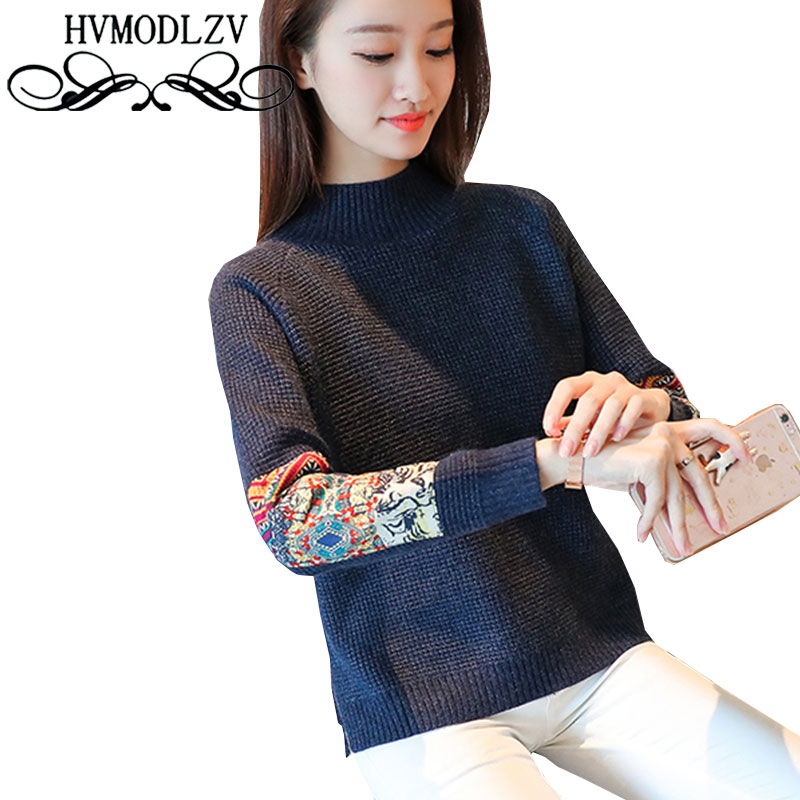 Autumn Winter National Wind Sweater 2017 New Women Sets of Loose Knitted Sweater Coat Large Size High Quality Sweater ls380
