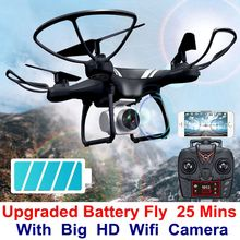 MJD K101S Opgewaardeerd Big Battery Fly 25 Mins 2.4G 6-Axis RC Drone Helicopter Quadcopter Met 1080 P = 5mp Wifi FPV HD Camera ky101s
