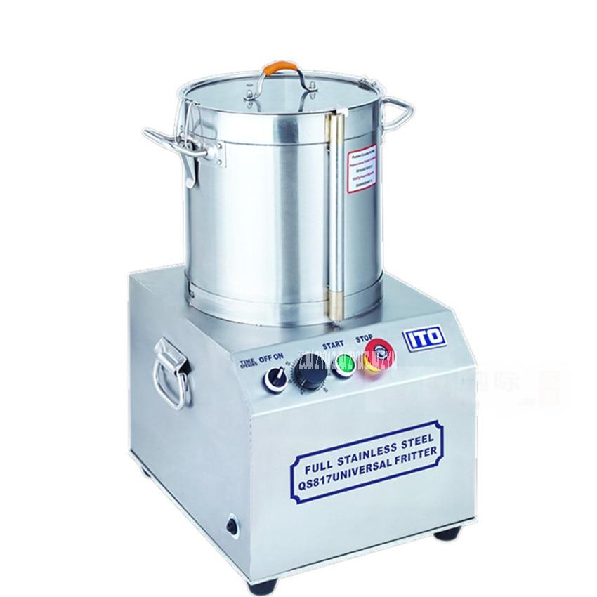 QS817 17L Commercial Food Processor; 110V/ 220V Stainless Steel Meat Vegetables Fritter Cutter Slicer Food Processors 750W