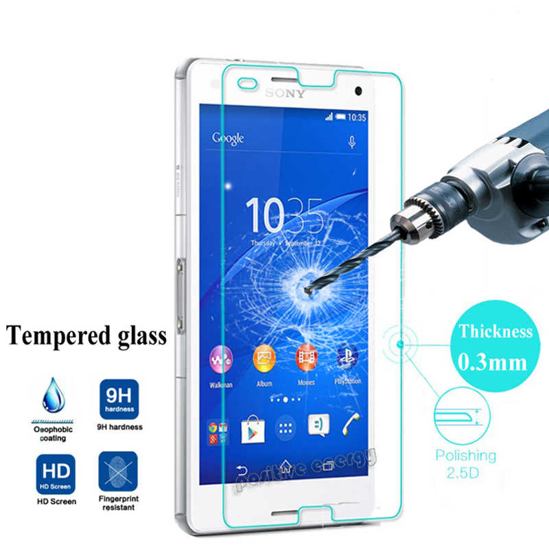 Safety Tempered Glass for Sony Xperia M4 aqua Z5 Z1 Z3 Compact Mini Z L36h Z1 L39h Screen Protector Toughened Protective Film