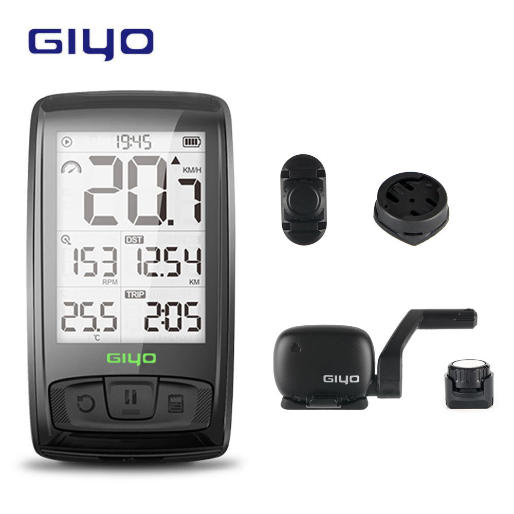 GIYO Bluetooth 4.0 Temperature Wireless Bicycle Computer Bike Speedometer Mount Holder Sensor counter Computer Cycling Odometer(China)