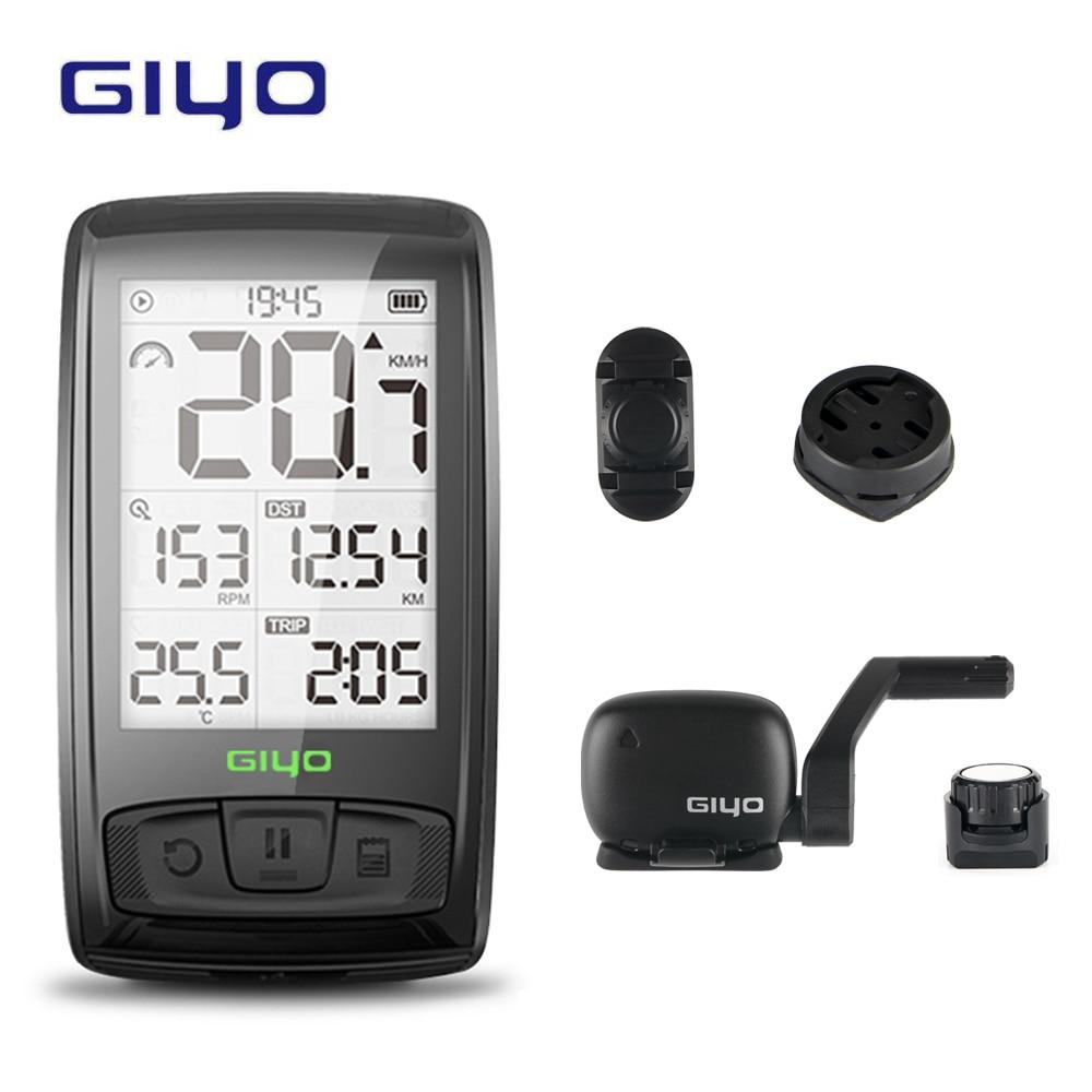 GIYO Bluetooth 4.0 température sans fil vélo ordinateur vélo compteur de vitesse support capteur compteur ordinateur cyclisme odomètre