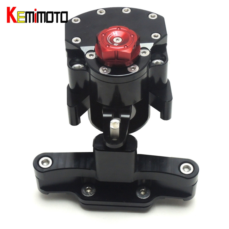KEMiMOTO Motorcycle Accessories Steering Damper with Mounting Bracket Kit For HONDA CBR650F 2014 2015 CBR 650F for honda cbr 650f cbr650f 2014 2015 2016 motorcycle steering damper stabilizer adjustable linear with bracket kit c