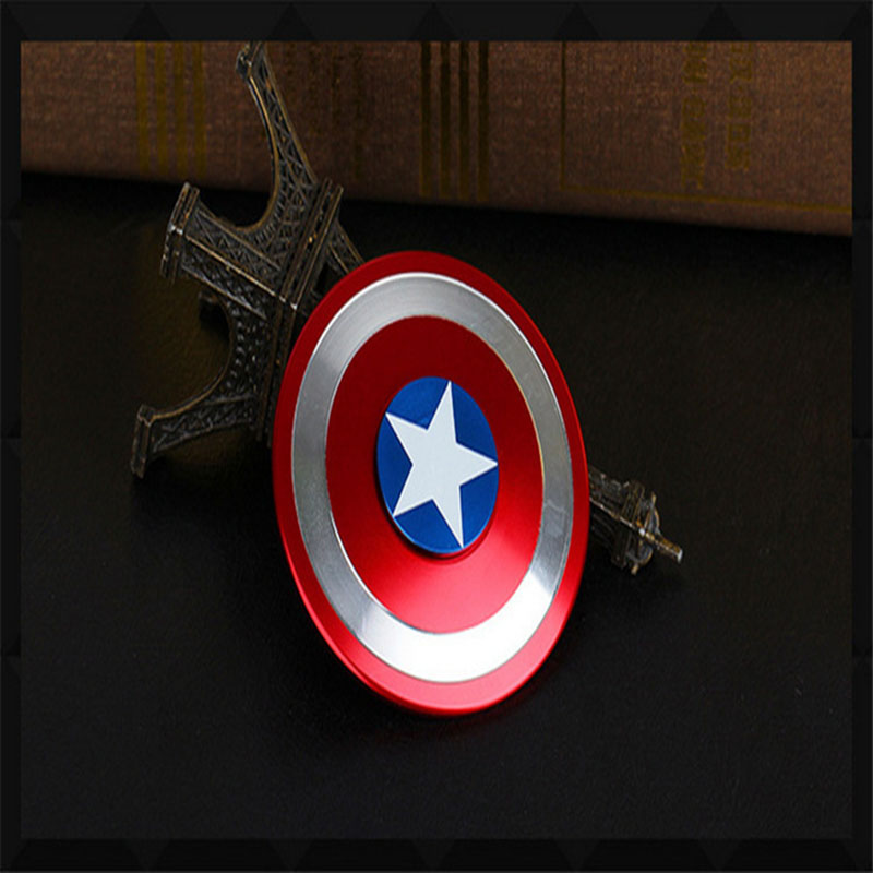 JQ Bearings Captain America Handspinner Toy Good Quality Metal Edc Fidget Spinner Stress Spinner For Autism