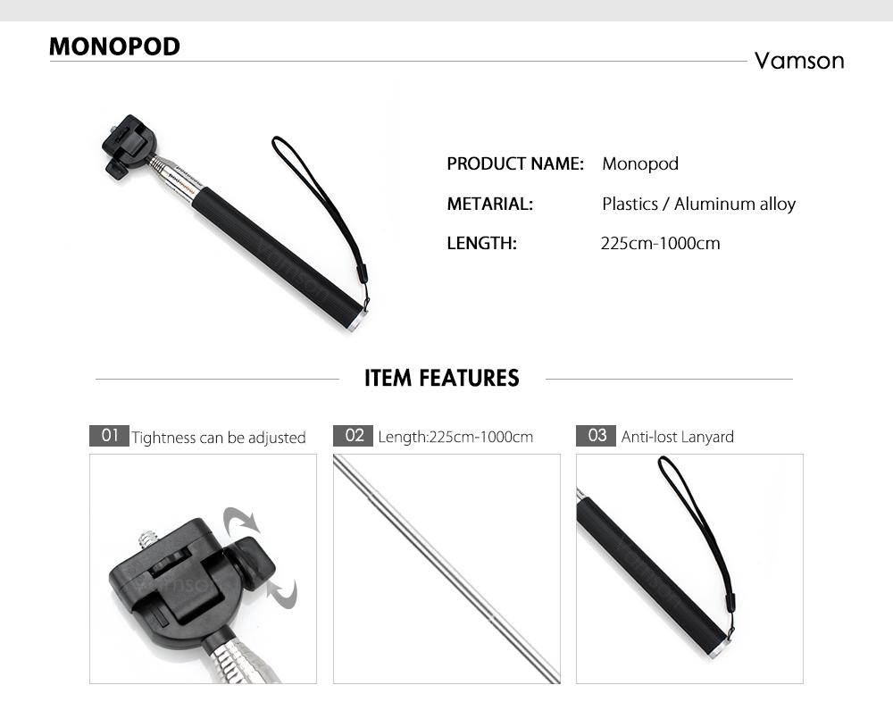 action camera Vamson Gopro Camera Accessories HTB1Dlv3ebZnBKNjSZFKq6AGOVXae