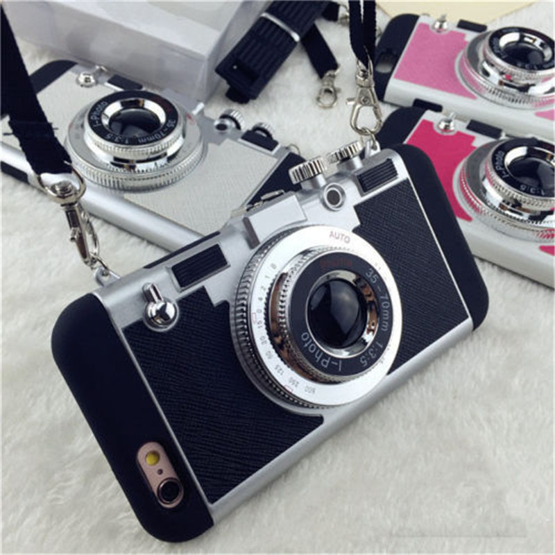 Luxury Retro 3D Camera Style Protective Phone Back Case Cover
