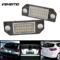 2Pcs 12V White 24 LED Number License Plate Light Lamp For Ford Focus C MAX MK2