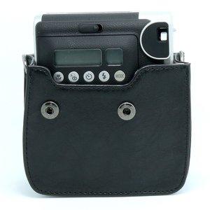 Image 3 - 후지 필름 instax 미니 90 네오 클래식 카메라 케이스 pu 가죽 어깨 스트랩 카메라 가방 크리스탈 pvc 보호 캐리 커버
