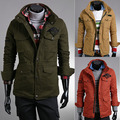 2014 Sale Special Offer Mandarin Collar Clothing Coat Male Slim Outerwear Double Layer Stand Collar Tooling Fashionable Jacket