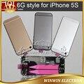 Средняя батарейного отсека полный корпус для iPhone 5S как 6 6 мини задняя крышка с оригинальной части сборки + карты лоток + инструмент