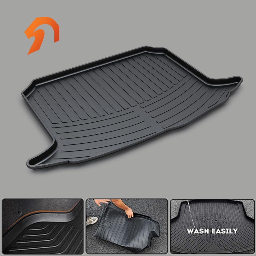 Custom fit car trunk mats for PEUGEOT 207 301 307 308 407 408 508 2008 3008 BOOT LINER REAR TRUNK CARGO MAT TRAY CARPET COVER custom fit car trunk mat for cadillac ats cts xts srx sls escalade 3d car styling all weather tray carpet cargo liner waterproof