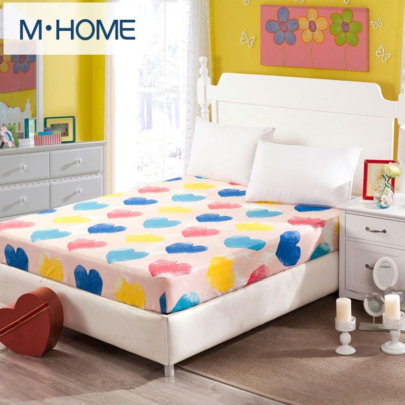 19 colors 100 cartoon fitted sheet bedspread bed sheets hotel bed covers elastic mattress cover