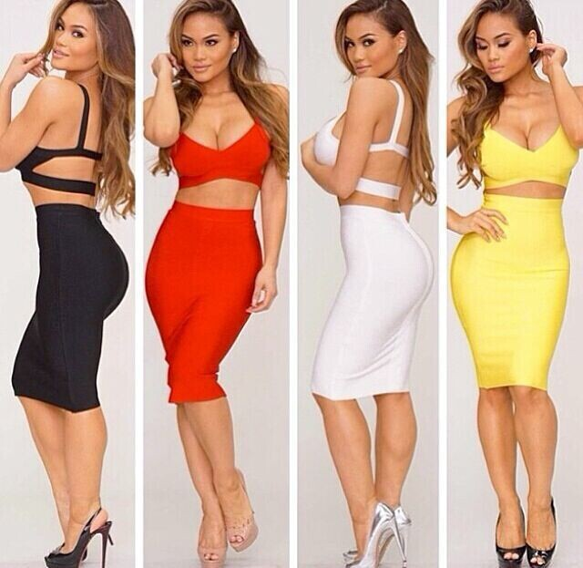 00c492eb7e9d Free Shipping Summer Dresses for Womens Two Piece Outfits 2015 Sexy Bodycon  2 Piece Knee Length