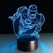 Superhero Flying Superman Color-changing Light 3D Illusion Bulbing Lamp  Energy-saving USB Lighting