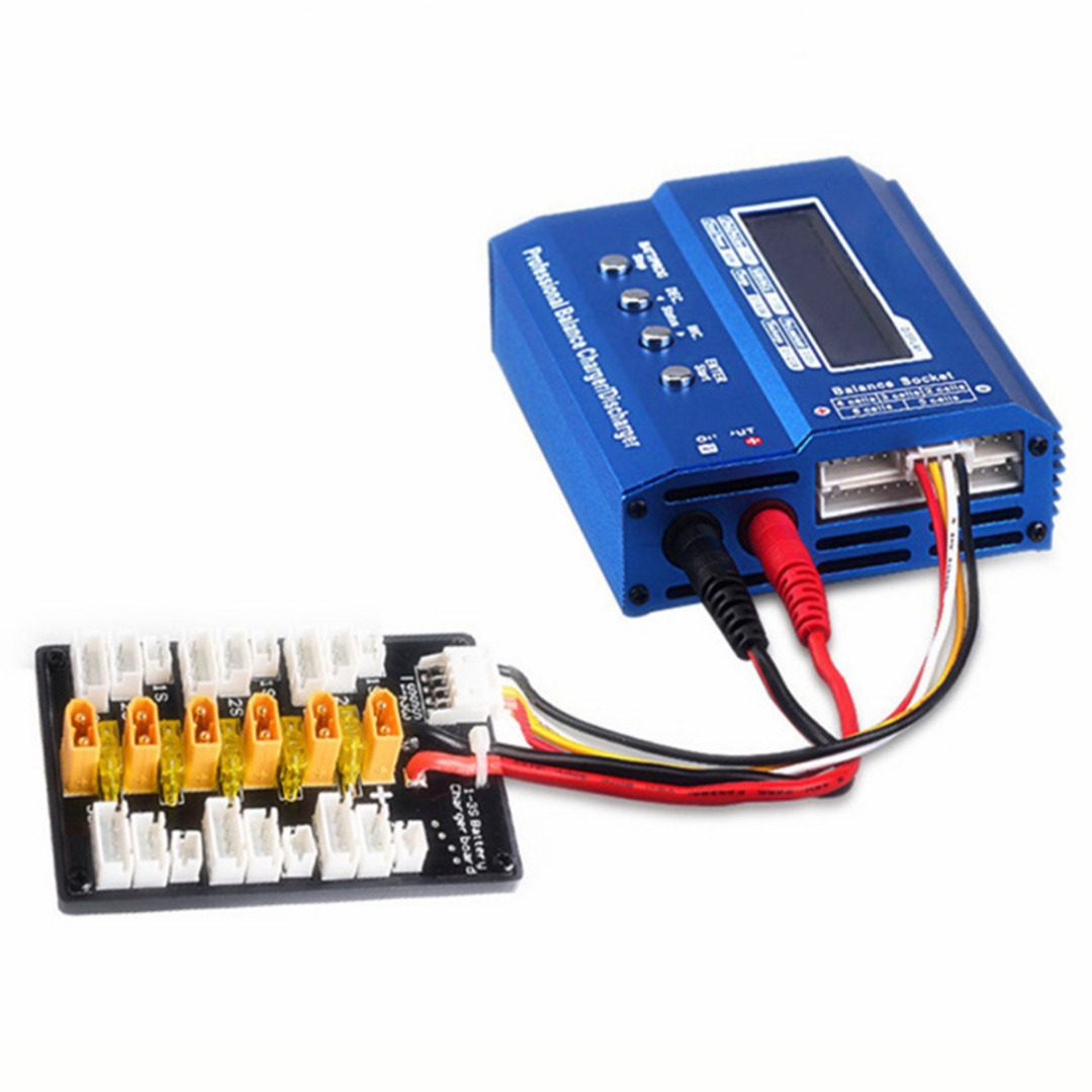 1PC 1S-3S XT30 Parallel Charging Balance Board For RC Lipo IMAX B6 B6AC Battery Charger image