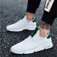 2018 autumn new sneakers men running shoes flying netting breathable outdoor men's sports shoes white green sneakers