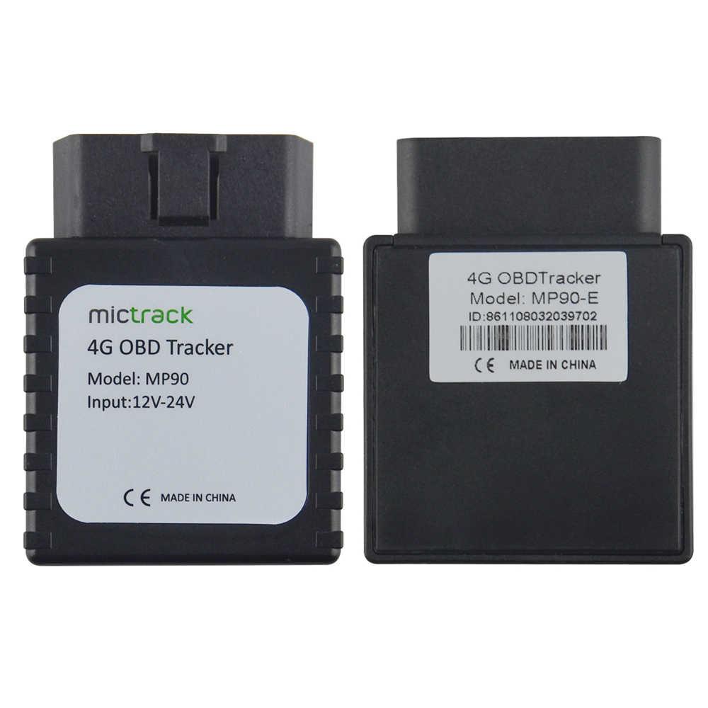 أفضل نوع 4 جرام FDD LTE OBD II GPS المقتفي MP90 12-24 فولت سيارة GPS OBD تعقب MP90 مع 4 جرام شبكة سيارة OBD المقتفي مع gps منصة