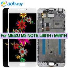 """Meizu M3 הערה L681H LCD תצוגת Digitizer מגע החלפת מסך 5.5 """"Meizu M3 הערה תצוגת M681H L681H LCD עצרת + מסגרת"""