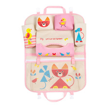 Car Cartoon Cute Back Seat Storage Hang Bag Organizer Stowing Tidying Baby Kids Sundry Specially Automobile Interior Accessories