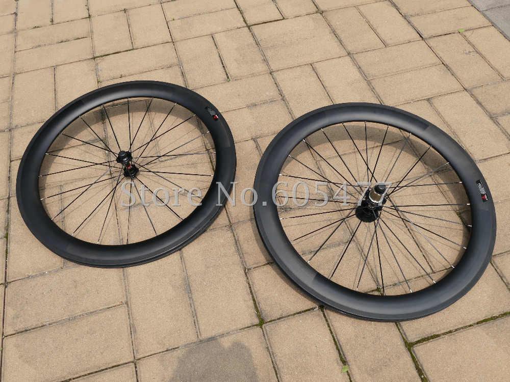 Toray In Fibra di Carbonio Della Graffatrice Del Wheelset 60mm Bici Da Strada Ruota di Bicicletta Copertoncino Cerchi Larghezza: 20.5/23/25mm