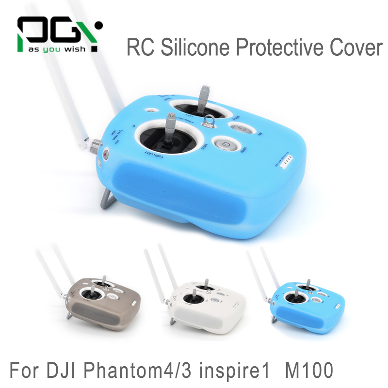 PGY RC Silicone Protective for DJI Phantom 3 4 Inspire1 M100 Remote Controller Skin Cover Case parts Sleeve Anti Slip Resistance