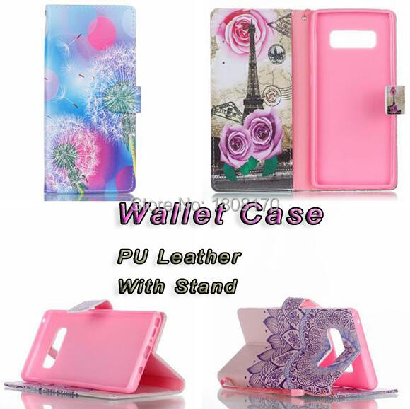 Butterfly Flower Wallet Leather Pouch Case For Samsung