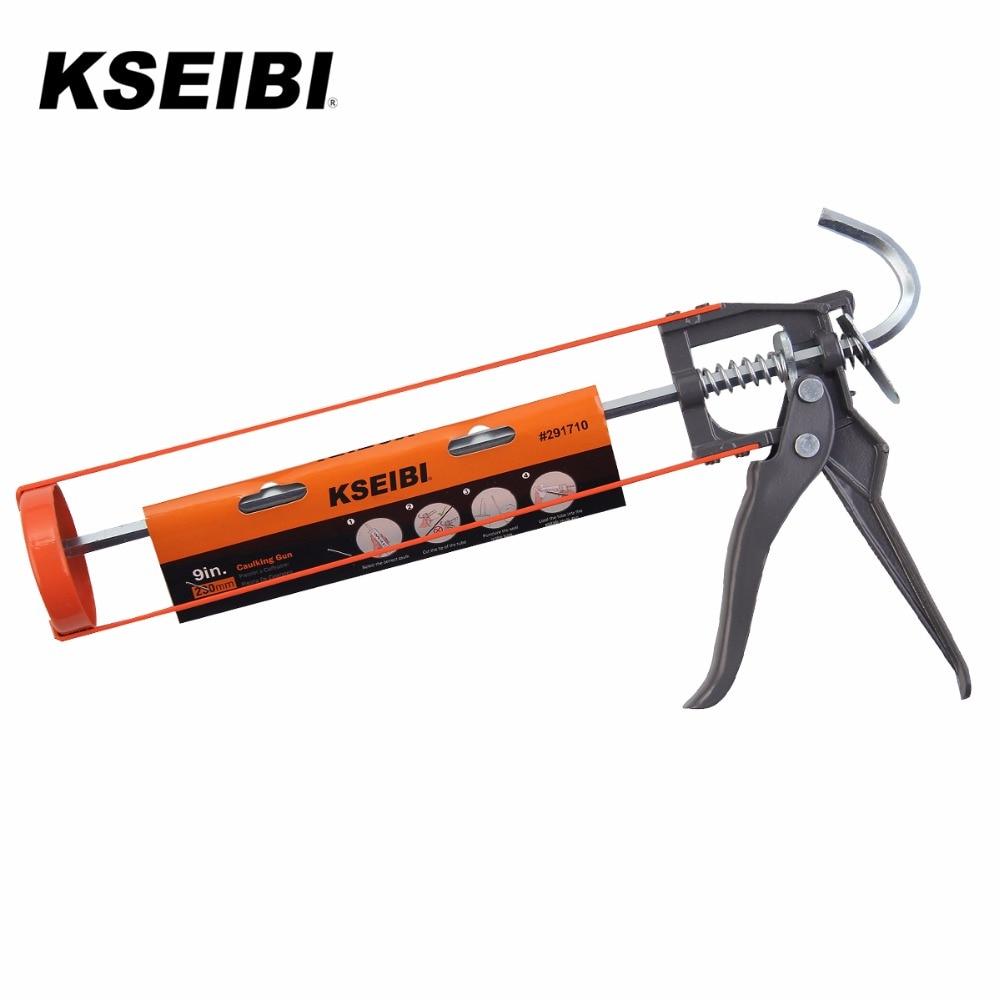 KSEIBI Heavy Duty Cartridges Manual Caulking Gun For Silicone Sealant
