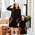Mãe e filha se veste 2017 família roupas combinando vestido de tricô clothing família mãe e filha roupas