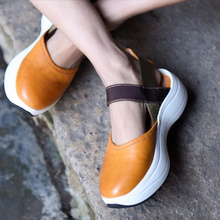 Artmu Original Thick Sole Sports Sandals Platform Genuine Leather Women's Shoes New Summer Handmade Casual Sandals 2006 цены онлайн