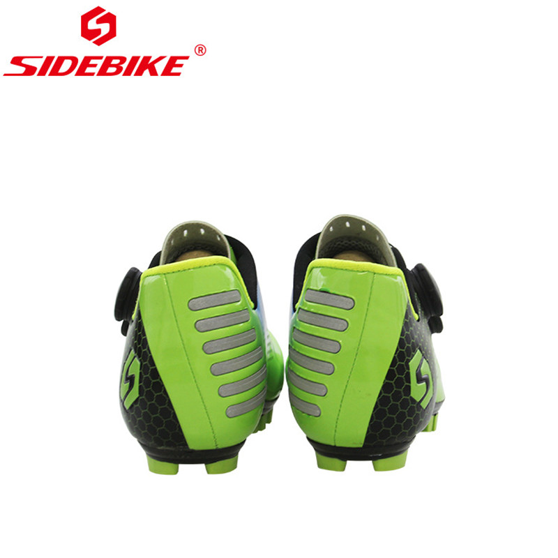 SIDEBIKE Ultralight Carbon Fiber Cycling Shoes Anti-skid Breathable Mountain Bike MTB Bicycle Shoes Cycle Riding Triathlon Shoes