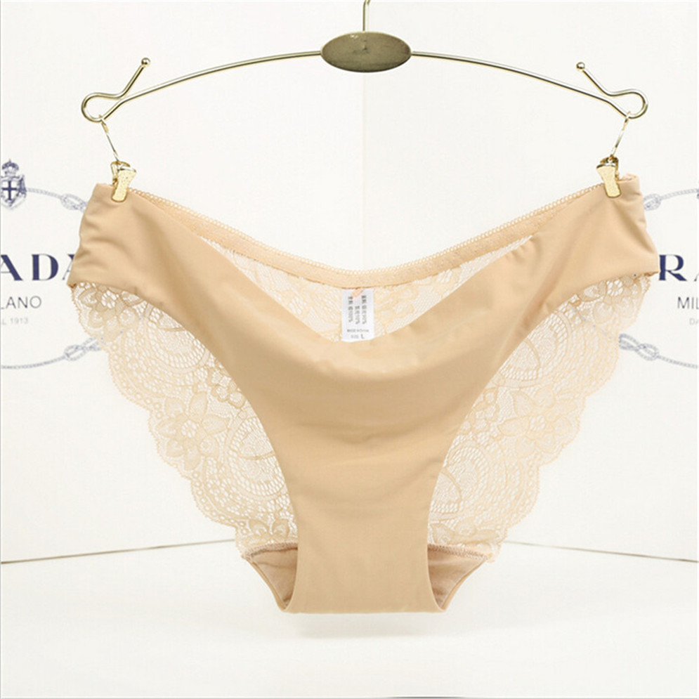 23437e0bdc ... Ice Silk Pink Sexy Lace Underwear Women Quick Dry One Piece Traceless  Women Seamless Large Size ...