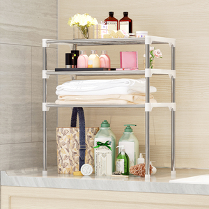 Image 4 - Unit 2/3 Tier Multi functional Kitchen Storage Shelf Table Rack Microwave Oven Shelving Bathroom Book Shelf
