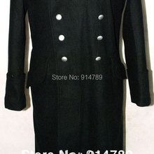 WWII GERMAN ELITE M32 BLACK WOOL GREATCOAT COAT IN SIZES-317