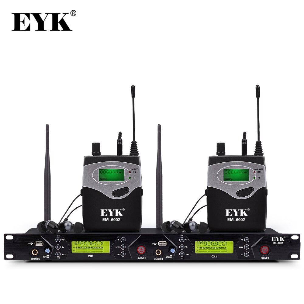 EM-6002 Drahtlose In-Ear-Monitor System Professional Bühne Leistung Ohr Überwachung Systeme mit Zwei Taschensender