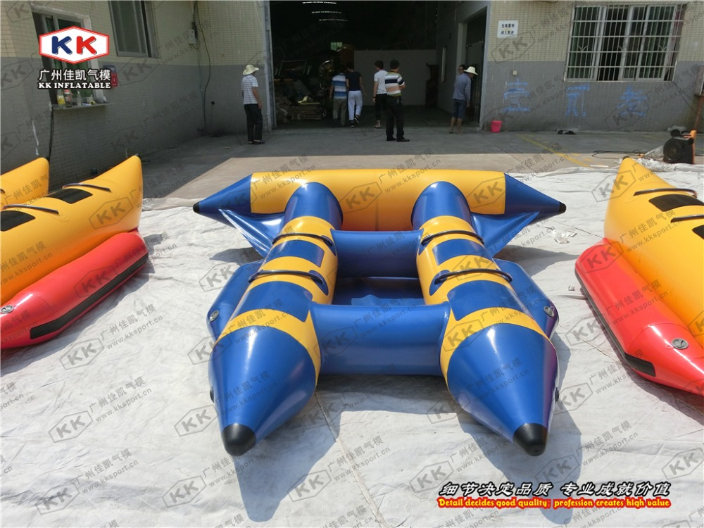 4 people inflatable fly fish inflatable boat for water park fun city inflatable boat for outdoor playing game