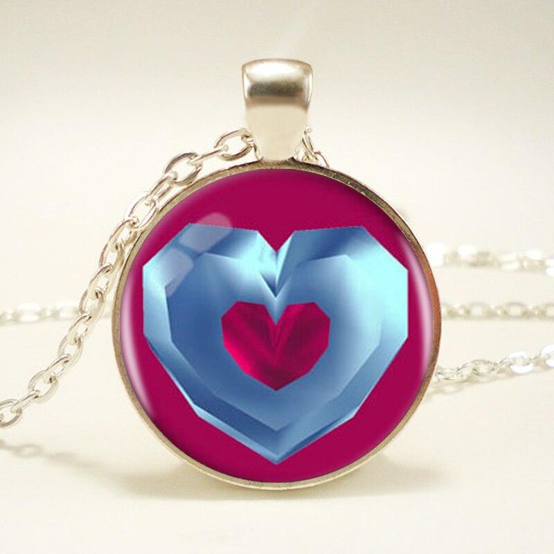 Zelda Heart Container Necklace: 1pcs/lot Heart Container Logo Pendant Necklace Legend Of