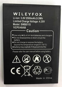new hot selling swb0115 replacement battery bateria 2500 mah battery for mobile phone batteries, cell swb0115 wileyfox swift