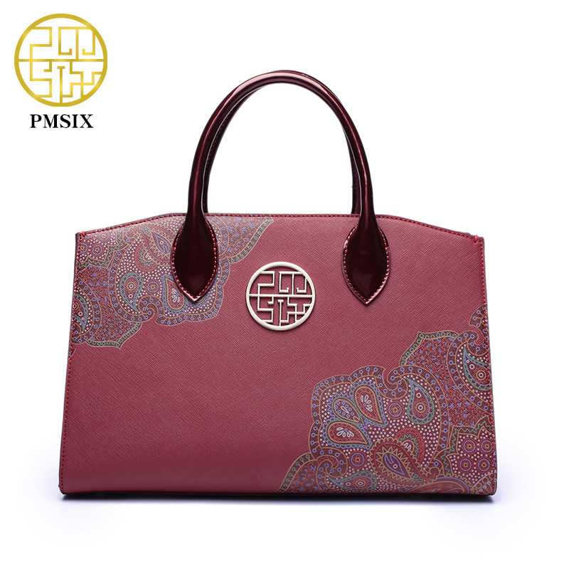 Pmsix New Women Cattle Split Leather Handbags Luxury Floral Vintage Hand Bag Cow Leather Bags Embroidery Handbag Totes BagsPmsix New Women Cattle Split Leather Handbags Luxury Floral Vintage Hand Bag Cow Leather Bags Embroidery Handbag Totes Bags