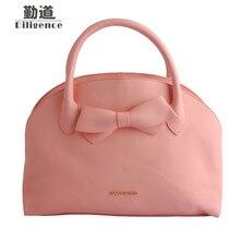 Для женщин В виде ракушки Сумки розовым бантом мода кожа Сумки известных люксовых брендов дизайнер Стиль сумка