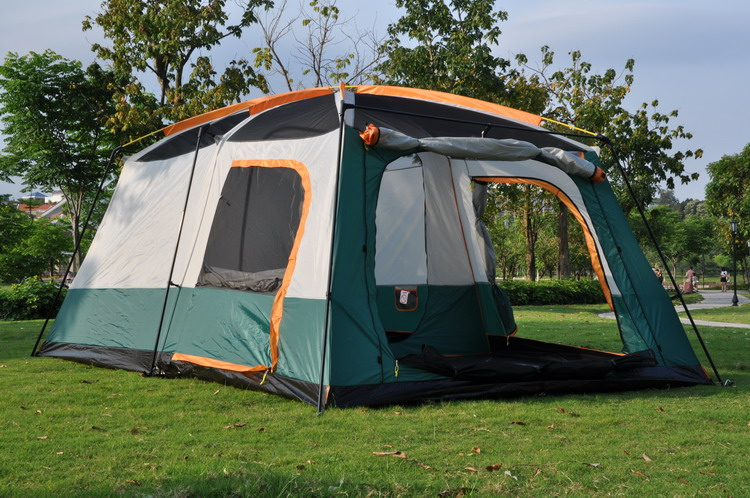 Gentil Large Tent Family Waterproof Double Layer 8 10 12 Person Cabin Tent Two  Living Rooms Luxury Camping Marquee Tents  In Tents From Sports U0026  Entertainment On ...