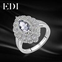 EDI Роскошные 14 к 585 Белое золото кольцо с алмазом moissanites 1ct огранка маркиз кольцо для Для женщин свадебные Обручение красивые украшения