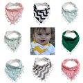 1 Pc Meninas Do Bebê Menino Crianças Saliva Toalha Dribble Triângulo Bandana Babadores Infantil Lenço de Cabeça