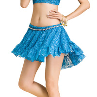 Women Bellydance Skirt Fashion 5 Colors Lace Belly Dance Short Skirt Bollywood Practice Dancing Outfits Exotic Dancewear DC1780