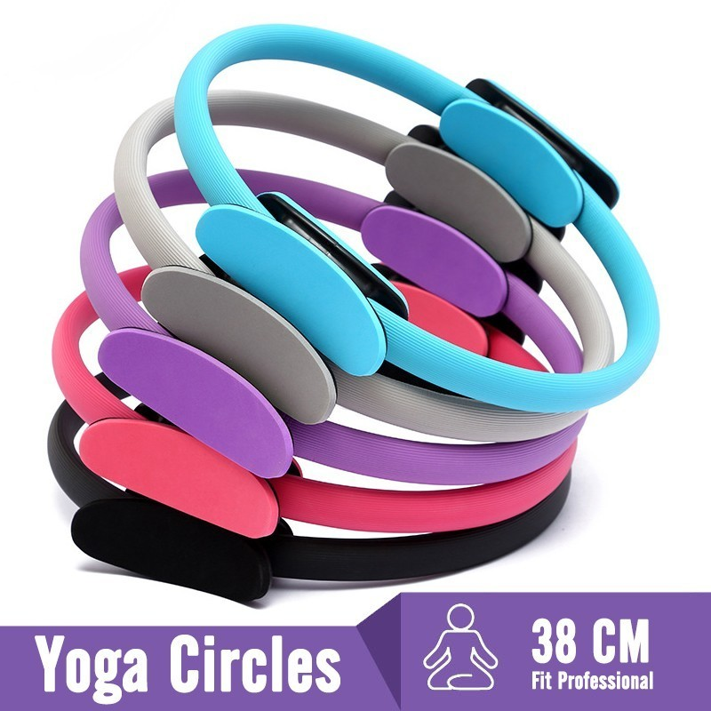 Professional Yoga Circle Pilates Sport Magic Ring Women Fitness Kinetic Resistance Circle Gym Workout Pilates Accessories 4Color