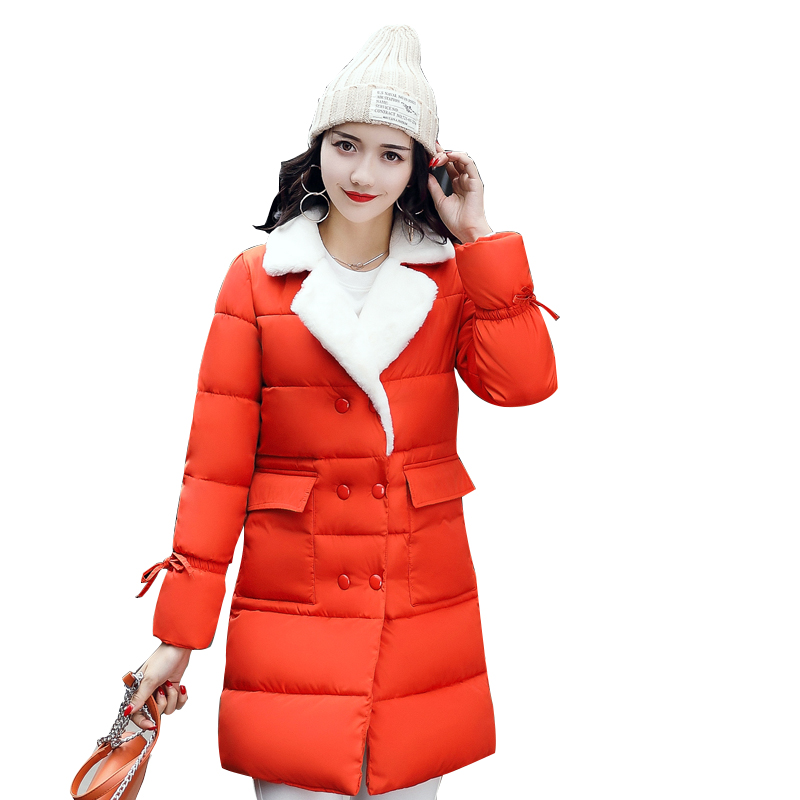 2017 Women Winter Parkas Cotton Casual Style Long Jacket Coat Thick Padded Warm High Quality Down Parkas New Design Overcoat