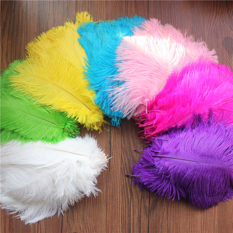 Wholesale 10pcs ostrich feathers wedding party decorations free shipping 15-20cm