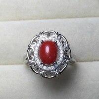 Telkari Doğal Mercan Yüzükler Kadınlar için Otantik 925 Gümüş Takı Ayarlanabilir Parmak Yüzük Haleigha best seller listesi